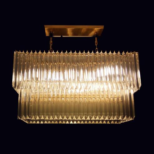 """""""Anita"""" Murano glas Kronleuchter - 10 flammig - transparent und 24K gold"""