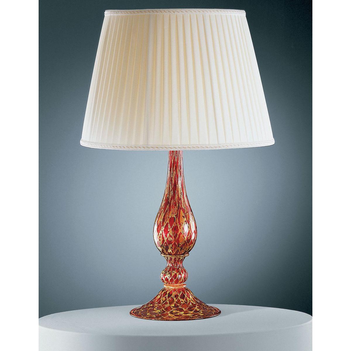 """""""Talia"""" lampara de sobremesa de Murano - 1 luce - rojo oro"""