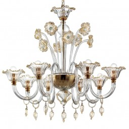 """Novecento"" Murano glass chandelier"