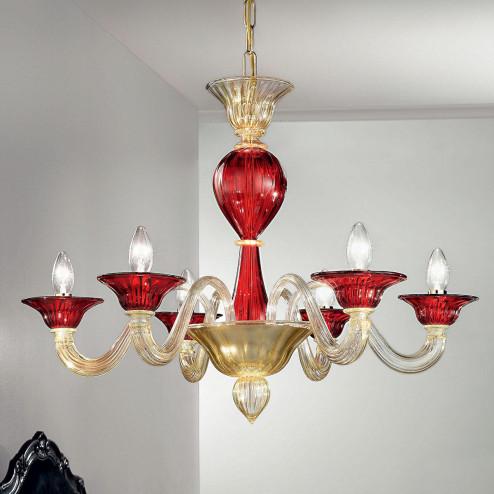 """""""Ermes"""" lampara de araña de Murano"""