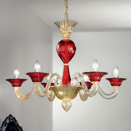 """Ermes"" Murano glass chandelier"