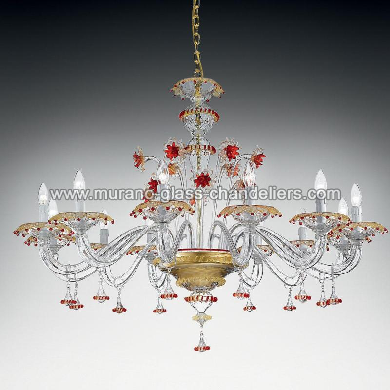florenza lustre en cristal de murano murano glass chandeliers. Black Bedroom Furniture Sets. Home Design Ideas