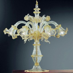 """Canal Grande"" Murano big table lamp 5 lights"
