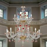 """Florenza"" two tier Murano glass chandelier"