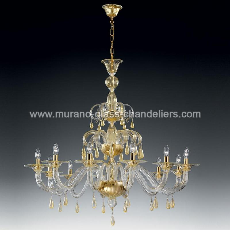 olivia lustre blanc en cristal de murano murano glass chandeliers. Black Bedroom Furniture Sets. Home Design Ideas