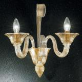 """Rodrigo"" Murano glass sconce - 1 light - gold"