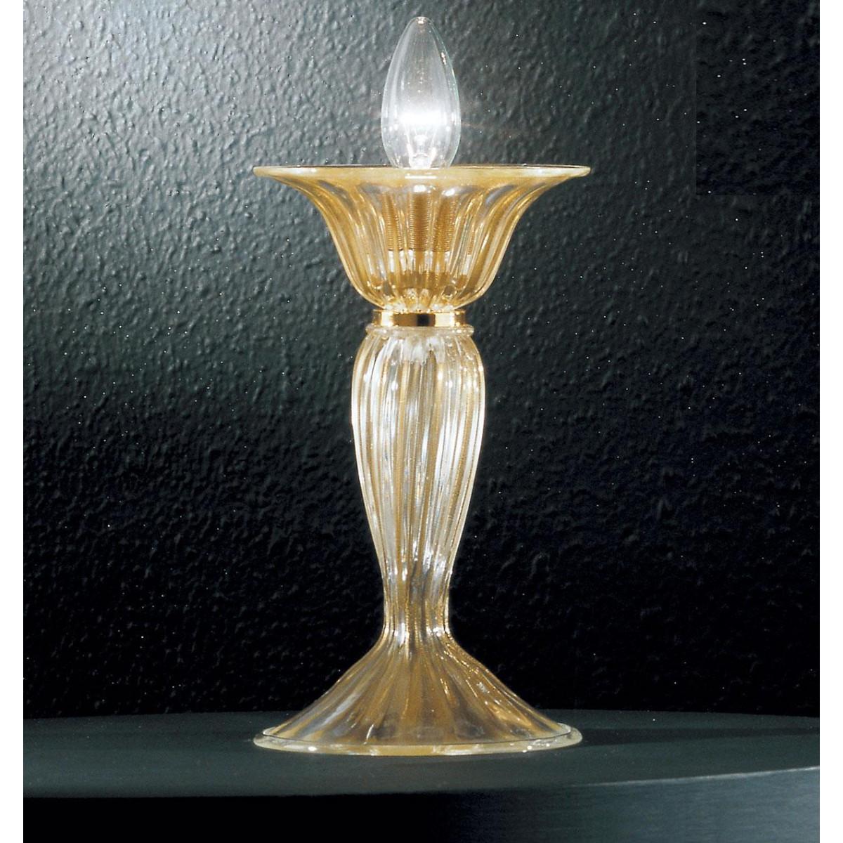 """Rodrigo"" Murano glass bedside lamp - 1 light - gold"