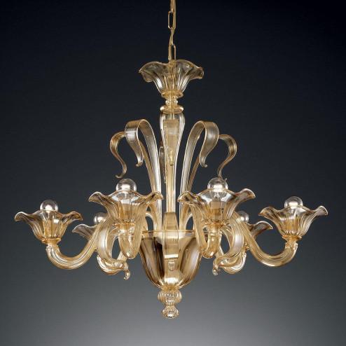 """Perpetua"" lustre en cristal de Murano"