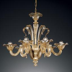 """Perpetua"" Murano glass chandelier - 6 lights - amber"