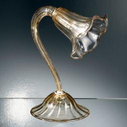 """Cristoforo"" Murano glass bedside lamp - 1 light - amber"