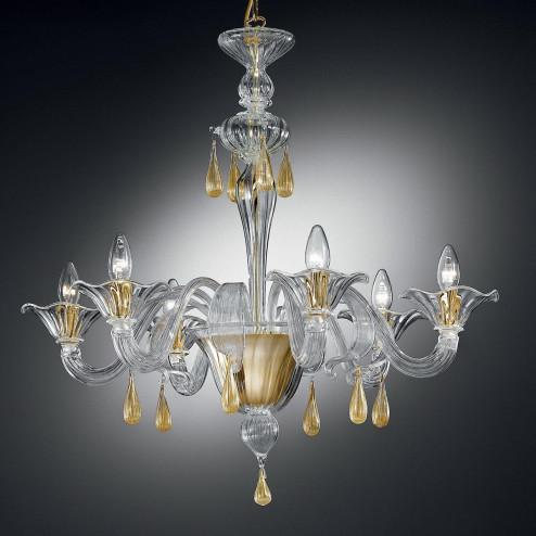 """""""Prassede"""" lustre en cristal de Murano"""