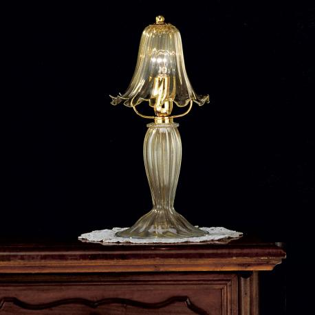 """Giustiniano"" Murano glass bedside lamp - 1 light - gold"