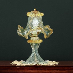 Canal Grande 1 light Murano small table lamp transparent gold color