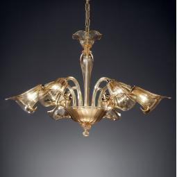 """Corinne"" Murano glass chandelier"