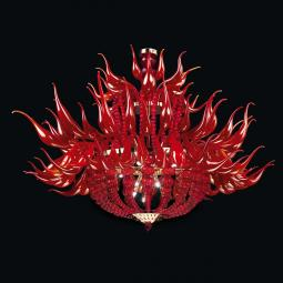 """Desdemona"" Murano glass chandelier - red -"