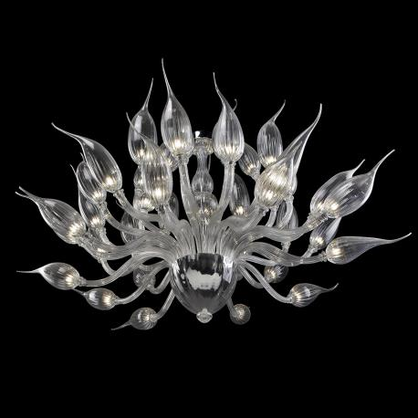 """Proserpina"" Murano glass chandelier - transparent -"