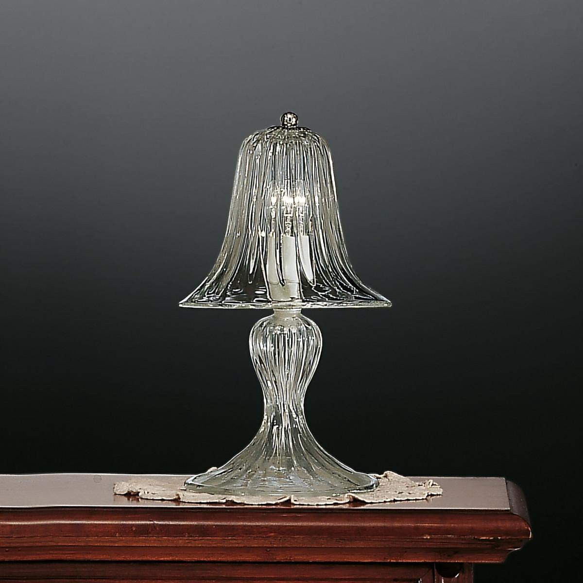 Rialto 1 flammig Murano kleine Tischlampe - transparent Farbe