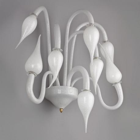 """Cerere"" Murano glass sconce - white -"