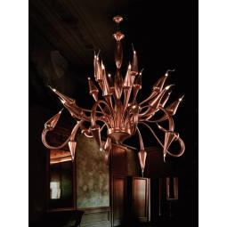 """Ade"" Murano glass chandelier - bronze -"