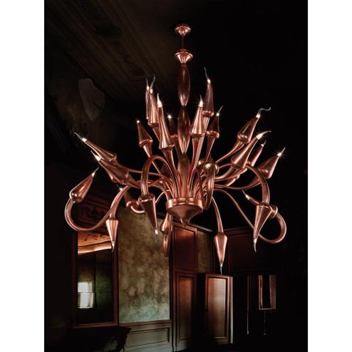 """""""Ade"""" Murano glass chandelier - bronze -"""