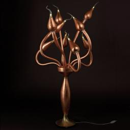 """Ade"" Murano glass floor lamp - bronze -"