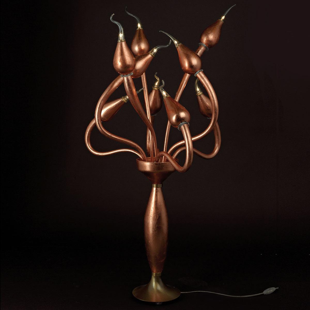 """""""Ade"""" lampara de pie de Murano - bronce -"""