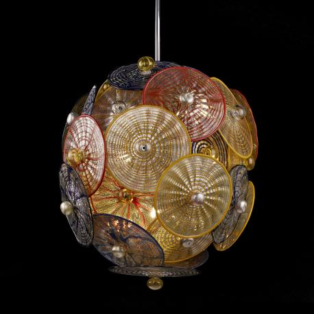 """Vesta"" Murano glass chandelier - multicolor -"