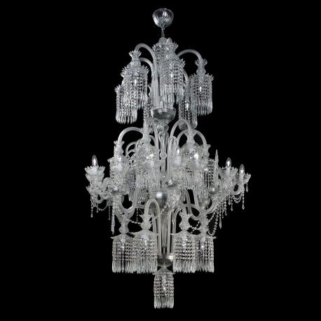 """Serse"" Murano glass chandelier - transparent -"