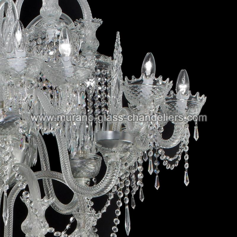 serse lustre en cristal de murano murano glass chandeliers. Black Bedroom Furniture Sets. Home Design Ideas