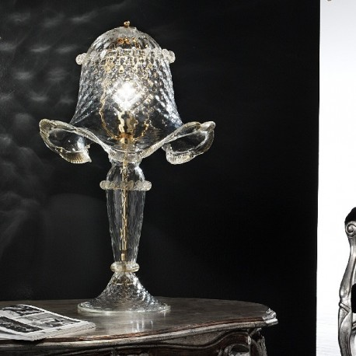 Canal Grande una luz de Murano lámpara de mesa a medio
