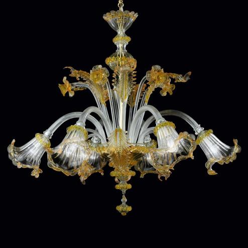 """""""Adelaide"""" lampara de araña de Murano"""
