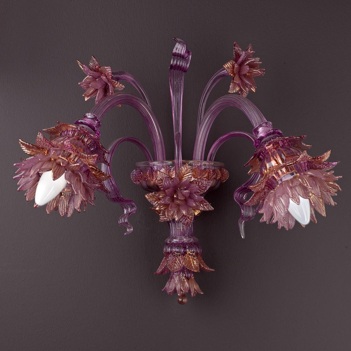 """Ginestra"" Murano glass chandelier - pink -"
