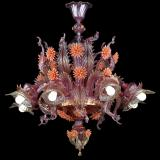 """Bucaneve"" Murano glass chandelier"
