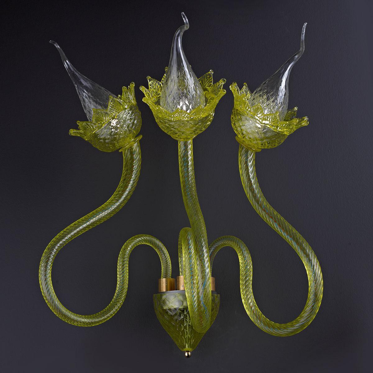 """""""Circe"""" applique en verre de Murano - vert -"""