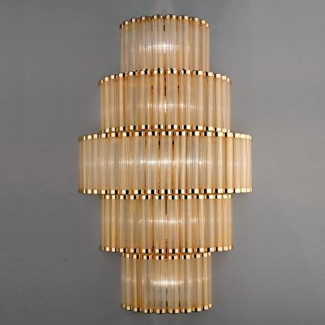 """Tebe"" Murano glass sconce - gold -"