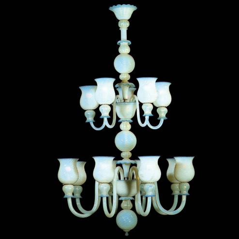 """""""Antigone"""" lampara de araña de Murano"""