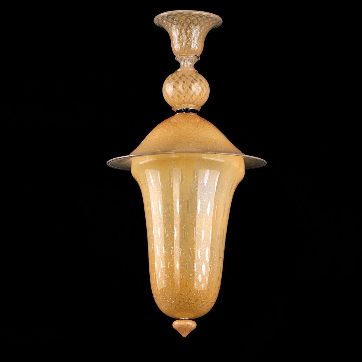 """""""Filomena"""" lámpara colgante en cristal de Murano - or -"""