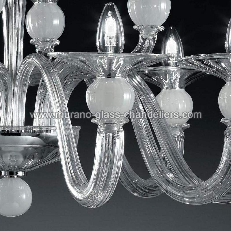 wolfgang lustre en cristal de murano murano glass chandeliers. Black Bedroom Furniture Sets. Home Design Ideas
