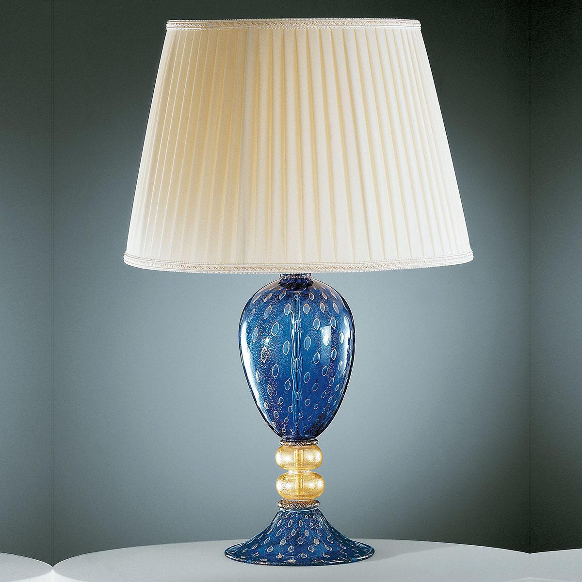 """""""Imperia"""" Murano tischleuchte - blau und gold -"""