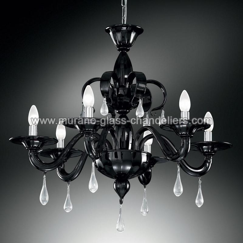 "Murano Glass Chandelier Large: ""Olivia"" Large Murano Glass Chandelier"