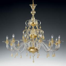 """Olivia"" large Murano glass chandelier"