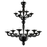 """Squero"" two tier Murano glass chandelier"