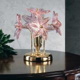 """Fiordaliso"" Murano glass table lamp - 1 light - transparent and pink"