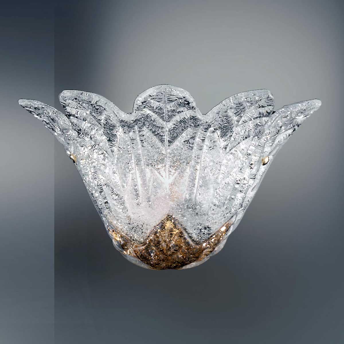 """""""Animus"""" applique en verre de Murano - 1 lumière - transparent et ambre"""