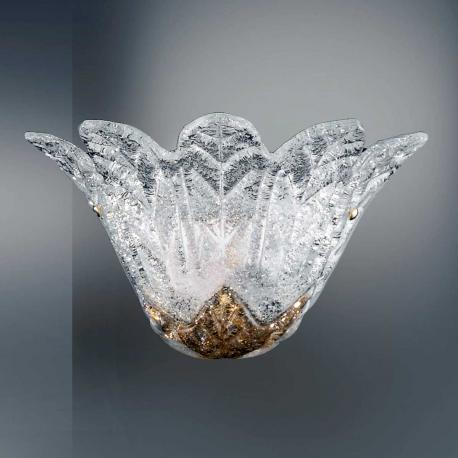 """""""Animus"""" Murano glass sconce - 1 light - transparent and amber"""