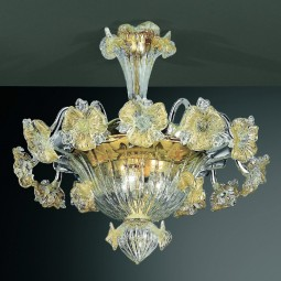 """Tiepolo"" Murano glass ceiling light"