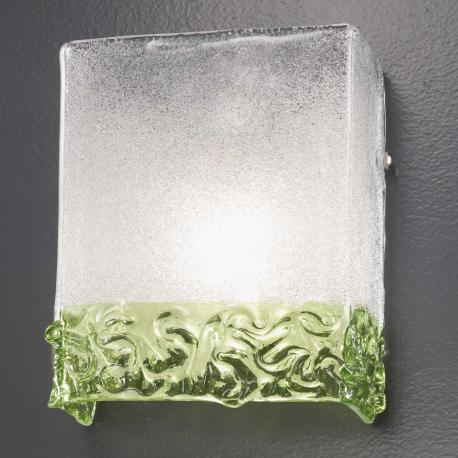 """""""Hailey"""" Murano glass sconce - 1 light - transparent and green"""