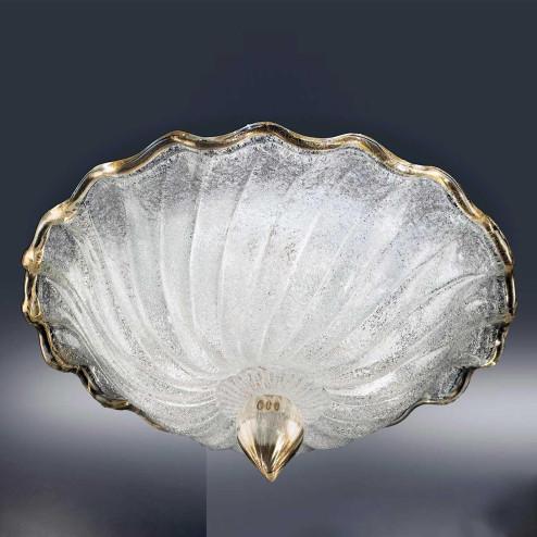 """""""Conchiglia"""" plafonnier en verre de Murano"""