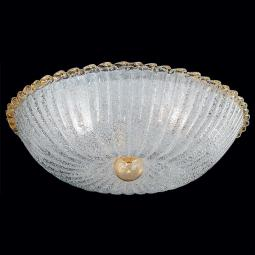 """Angela"" Murano glass ceiling light - 4 lights - transparent and gold"