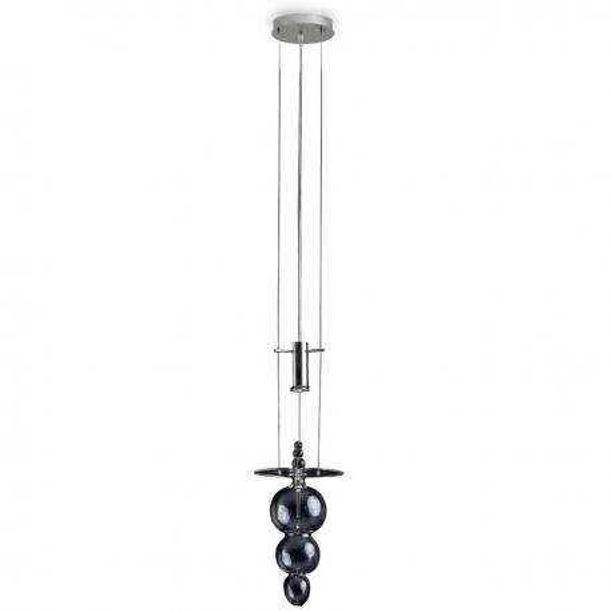 """Bulbo"" suspension en verre de Murano - 1 lumière - transparent"